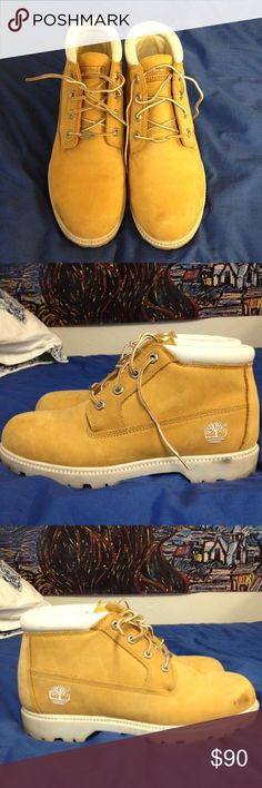 Women's Timberland Boots Worn only a few times, size didn't fit me well. Only one small scuff (shown in picture). Practically brand new Timberland Shoes Ankle Boots & Booties