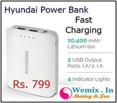Hyundai MPB 100W 10400 mAh Power Bank Rs 799
