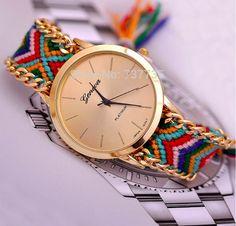 2015 New Brand GENEVA Watch Handmade Braided Friendship Bracelet women – Forever Later
