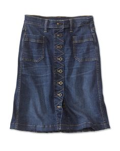 Just found this Button-Front Stretch Denim Skirt - Button-Front Stretch Denim Skirt -- Orvis on Orvis.com!
