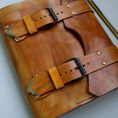 7 x 9 inches Leather Journal Handmade Journal by TiVergy on Etsy