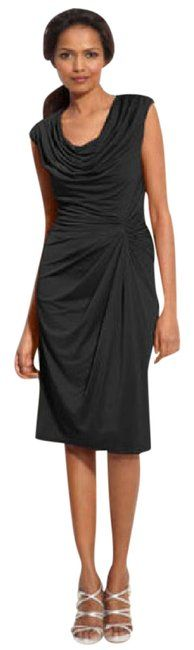 Tadashi Shoji Black Ruched Cowl Neck Matte Jersey Short Cocktail Dress Size 8 (M). Free shipping and guaranteed authenticity on Tadashi Shoji Black Ruched Cowl Neck Matte Jersey Short Cocktail Dress Size 8 (M)New without manufacturer tag but does have Nordstr... Little Black Cocktail Dress, Short Cocktail Dress, Tadashi Shoji, Jersey Shorts, Cowl Neck, Polyester Spandex, Luxury Fashion, Fashion Dresses, Nordstrom