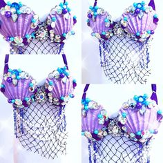 For Sale Mermaid Bra: 34 D To purchase head to our website www.electric-laundry.com Mermaid Bra, Mermaid Crown, Mermaid Outfit, Mermaid Tails, Mermaid Swimsuit, Bedazzled Bra, Mermaid Halloween Costumes, Mermaid Parade, Mermaid Crafts