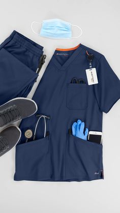 Scrubs Outfit, Scrubs Uniform, Men In Uniform, Receptionist Outfit, Dental Receptionist, Johns Hopkins Hospital, Scrub Shop, Medical Uniforms, Medical Scrubs