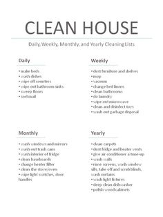 Daily Chore Lists On Pinterest Daily Chore List
