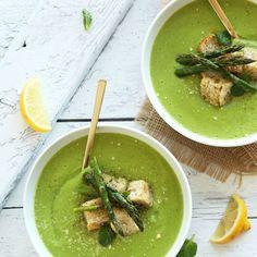 Creamy Asparagus and Pea Soup  - Redbook.com