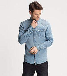 Jeanshemd Regular Fit in der Farbe jeans-hellblau bei C&A