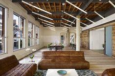 An award-winning architecture firm based in Austin, Texas Innovative Office, Startup Office, Architect Logo, Architect House, Office Pictures, Office Lounge, Linear Lighting, Lighting Design, Office Lighting