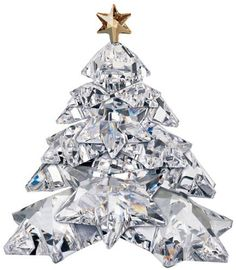 Swarovski Christmas Tree Shining Star The Christmas Tree is a clear piece and is adorned with a gold star as a traditional decoration. Swarovski Crystal Figurines, Swarovski Crystals, Christmas Tree Decorations, Christmas Tree Ornaments, Xmas Tree, Crystal Tree, Clear Crystal, Magical Christmas, Christmas Things