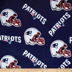 Fabric Traditions NFL Fleece New England Patriots Tossed Helmets, Multi Nfl New England Patriots, Outdoor Outfit, Fleece Fabric, Cotton Fabric, Blue Fabric, A Team, Team Logo, Warm And Cozy, Seat Cushions
