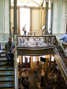 Modern view of main stair at Seaford House in Belgrave Square