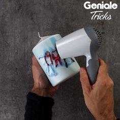 Fotokerze selbstgemacht - DIY als Geschenk #diy #geschenkidee #fotokerze