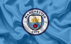 Download wallpapers Manchester City, Football Club, New emblem, Premier League, football, Manchester, United Kingdom, England, flag, emblem, Manchester City logo, English football club for desktop free