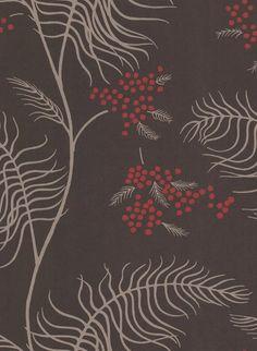 Mimosa - Designtapete von Cole and Son - Braun/ Beige/ Rot