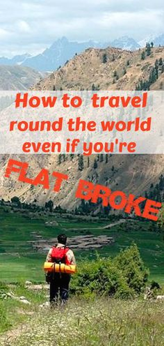 Fantastic Ted Talk - full of tips and advice about world travel on a shoestring or less!
