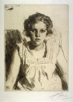 Anders Zorn, etching portrait