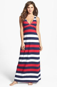 Free shipping and returns on Tommy Bahama Rugby Stripe Cover-Up Maxi Dress at Nordstrom.com. Nautical stripes encircle an Empire-waist maxi dress with a plunging V-neckline, its soft, stretchy fabric as flattering on the sand as on an evening out beachside.