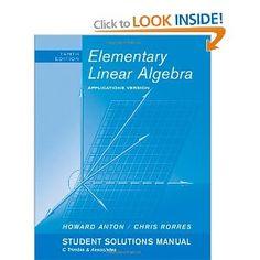Elementary linear algebra 10th edition solution manual