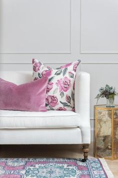 rose velvet pillow | Caitlin Wilson