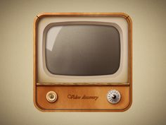 old television by Dmitry Kornilov- this has such a nice vintage feel to it the lovely use of texture on the box itself and the reflection giving it the look of glass on the screen.