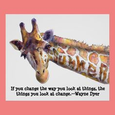 Giraffe Summer Quote Watercolor Poster Print Yes I can say you are on right site we just collected best shopping store that haveThis Dealstoday easy to Shops & Purchase Online - transferred directly secure and trusted checkout. Baby Giraffe Nursery, Giraffe Decor, Giraffe Art, Baby Giraffes, Funny Giraffe, Giraffe Quotes, Giraffe Pictures, Giraffe Images, Wayne Dyer Quotes