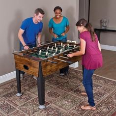 """54"""" Indoor Newcastle Foosball Table Soccer Game Room Arcade with 2 Balls Sports #Sports"""