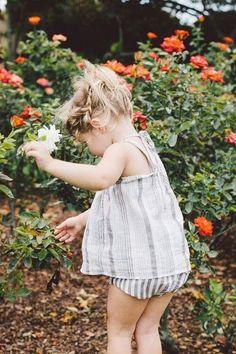 having fun picking flowers