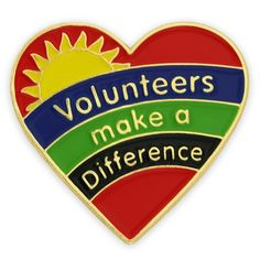 PinMart's Volunteers Make A Difference Heart Enamel Lapel Pin - CG11TJ3H6IZ - Brooches & Pins  #jewellrix #Brooches #Pins #jewelry #fashionstyle