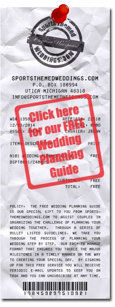 Our Electronic Wedding Planning Guide is a free product that we offer to all brides.  Upon signing up for this service, we send e-mail reminders (based on your wedding date) over the course of twelve months of wedding planning with a list of the tasks you need to complete for that month.  For more information, click on the receipt graphic.