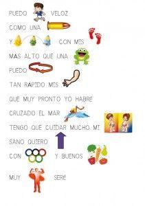 pictogramas poesias, adivinanzas canciones Spanish Language Learning, Kids Songs, Jouer, Leo, Preschool, Writing, Superhero, Education, Reading