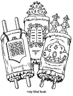 simchas torah coloring picture | Jewish Coloring Pages for Kids Simchat Torah _35