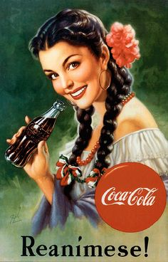 Coca-Cola advertisement from the 1940s, Mexico