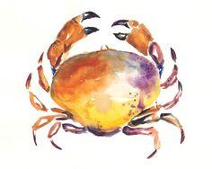 watercolor crab - Google Search