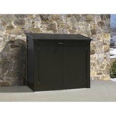 Great for Versa-Shed ft. W x ft. D Steel Garbage Shed by Arrow Patio Garden Furniture from top store Plastic Storage Sheds, Steel Storage Sheds, Wooden Storage Sheds, Shed Storage, Bike Storage, Small Storage, Outdoor Storage, Shed Design, Roof Design
