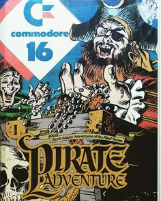 WEBSTA @favoritevideogamessince71 Pirate Adventure (1979 Computer Game By Scott Adams). This is adventure