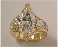 18k Yellow Gold 4 ct. Marquise Diamond Aspen Ring