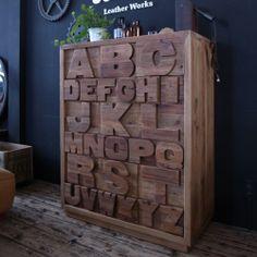 ABC / アルファベット ハイチェスト | リグナ東京 家用というよりお店用?