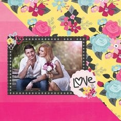 Layout created by Layle Koncar for Simple Stories using products from the Love & Adore collection