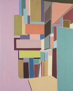 """Abstraction of the cityscabe, New York, 2014, """" Intersection # 1 """""""