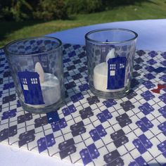 Doctor Who Tardis Wedding Candle Votive Holder Centerpiece Nerd Geek Wedding on Etsy, $2.75