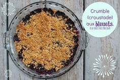 crumble aux bleuets 100 Calories, Love Is Sweet, Biscuits, Paleo, Brunch, Food And Drink, Low Carb, Sweets, Sugar