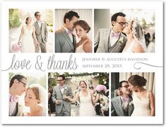 Sincere Script - Thank You Postcards - Magnolia Press - White : Front