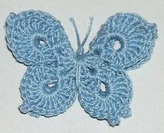 3-D Butterfly With Layered Wings By April Moreland - Free Crochet Pattern - (dishclothdiaries.blogspot)
