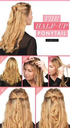 We're throwing it back to the half up ponytail, but this time we've put our own twist on this fun hairstyle. Try it out and you'll see that we're giving this look the revival it deserves!