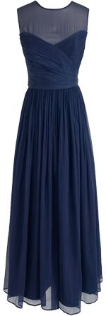 Navy Bridesmaid dress for Autumn Fall wedding