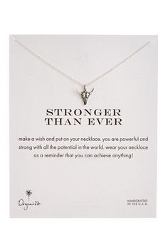 Stronger than Ever Bullhead Necklace by Dogeared on @nordstrom_rack