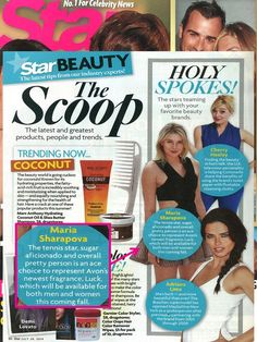 @starmagazine has the latest scoop on Maria Sharapova, the face of Avon Luck!