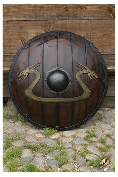 Viking Dragon Shield Wood