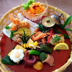 もとぱん's dish photo ㊗️母の日   花かご御膳 Japanese Dishes, Japanese Food, Cute Food, Good Food, Enjoy Your Meal, Food N, Food And Drink, Plate Lunch, Food Places