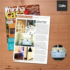 A revista Minha Casa destacou o gabinete Duo, novidade da Celite, como tendência de decoração! Prático e lindo, o móvel é ideal para o banheiro do casal.